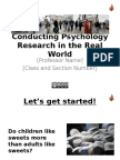 Conducting Psychology Research in the Real World.ppt