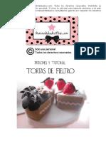 Patrones y Curso Tortas en Fieltro (6 Porciones) Http Www Manualidadesplus Com