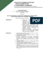 4. 8.1.3. Sk Kapus Tentang Waktu Penyampaian Laporan Hasil Pemeriksaan Lab Untuk Pasien Urgent