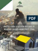 Politica Residuos Solidos Municipales