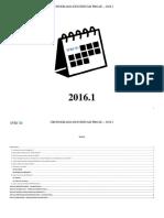 Cronograma Proae 2016.1