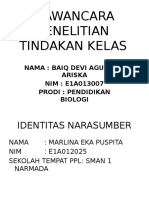 WAWANCARA PENELITIAN TINDAKAN KELAS II.pptx