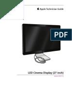 Apple 27 LED display manual service