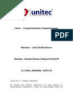 Tarea 1.1 Comportamiento Organizacional
