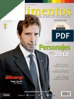 31 Revista Alimentos Edicion 31 Los Personajes Del 2012