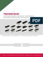 TECHNO SUN Catalogo Conectores Cable Solar y Complementos ES