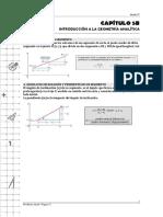 Cap 5B. Introducción a La Geometría Analítica