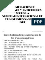 15082016 Clasificación de Antígenos y Anticuerpos Según La Sociedad Internacional de Transfusión Sanguínea Isbt