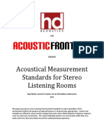 Acoustic Measurement Standards