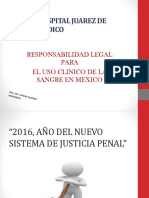 16082016 Responsabilidad Legal Para El Uso Clinico de La Sangre