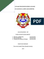 Laporan Hasil Praktikum Asidi-Alkalimetri