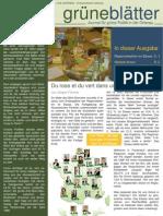 grüneBlaetter Nr. 2 Mai 2010