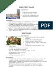 Pinoy Fruit Salad Recipe