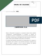 Manual de Calidad - Almacen