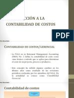 Introducción a La Contabilidad en Gestion de Costos