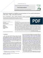 Functional Properties of Maillard Reaction Products of Rice Protein Hydrolysates With Mono-, Oligo- And Polysaccharides