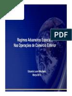 Regimes Aduaneiros Especiais Nas Operacoes de Comercio Exterior