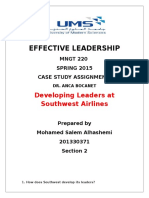 Effective Leadership Case Study Assignment