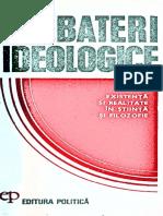 (_Dezbateri Ideologice_) Ilie Parvu-Existenta Si Realitate in Stiinta Si Filosofie-Editura Politica (1977)