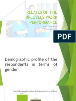 Correlates of the Employees Work Performance