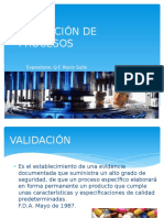 Validación de Procesos de Manufactura(Exposición)