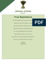 True Repentance - Sheaves of Grain - 31