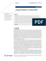 counteracting ring formation in kiln