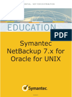 Symantec NetBackup 7.x for Oracle GUIDE