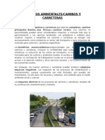 Impactos Ambientales en Carreteras