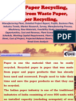 Waste Paper Recycling, Paper from Waste Paper, Paper Recycling Manufacturing Plant, Detailed Project Report, Profile, Business Plan, Industry Trends, Market Research, Survey, Manufacturing Process, Machinery, Raw Materials, Feasibility Study, Investment Opportunities, Cost and Revenue, Plant Economics, Production Schedule, Working Capital Requirement, Plant Layout, Process Flow Sheet, Cost of Project, Projected Balance Sheets, Profitability Ratios, Break Even Analysis