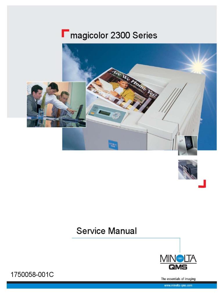 Konica Minolta QMS Magicolor 2300 Service Manual | Power Supply | Microsoft  Windows