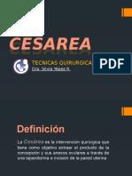 Cesarea - Tecnicas Quirurgicas