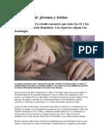 Salud Mental Jovenes y Tristes