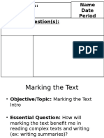 marking the text intro