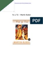 Yo y Tú - Martín Buber