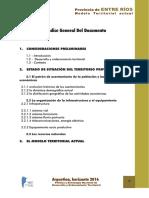 Modelo Territorial Actual Entre Rios