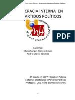Democracia Intena en Los Partidos Políticos