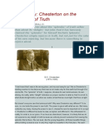 Orthodoxy - Chesterton on the 'Delight' of Truth