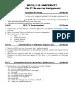 BCA 5th Semester Assignment