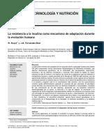 La Resistencia a La Insulina Como Mecanismo de Adaptacion Durante La Evolucion