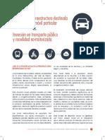 Inversión en Infraestructura Destinada Al Uso Del Automóvil Particular vs Inversión en Transporte Público y Movilidad No-motorizada