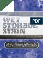 Wet Storage Stain on Galvanized Steel