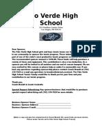 palo verde high school sponsor letter