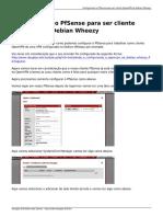 Configurando o Pfsense Para Ser Cliente Openvpn Do Debian Wheezy