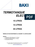 Manual Termotanque Eléctrico 10-15-30 Litros