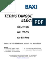 Manual Termotanque Eléctrico 50-80-100 Litros
