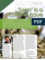 Lean - A Cultural Issue