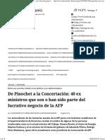 De Pinochet a La Concertación_ 40 Ex Ministros Que Son o Han Sido Parte Del Lucrativo Negocio de La AFP - El Mostrador