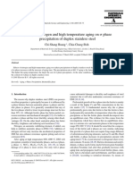 Effects of Nitrogen and High Temperature Aging on Phase