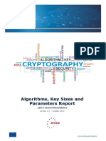 Algorithms- Key Sizes and Parameters Report. 2013 Recommendations